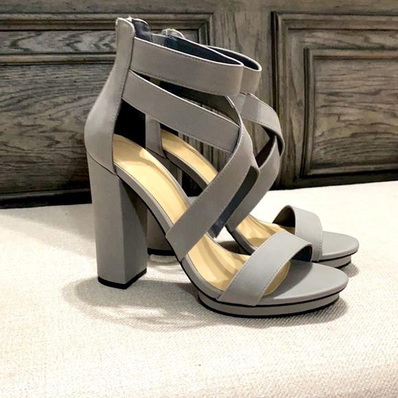 👡Brand New Charlotte Russe Grey Block Heels👡